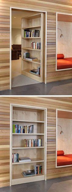 Secret Door On Bookshelf