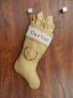 Check out this item in my Etsy shop https://www.etsy.com/listing/255310970/rustic-burlap-christmas-stocking-perfect