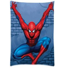 Custom flying spiderman Pillowcase Rectangle Printable Pillow Cover Zippered Pillow Cases 20x30 inches For Kid Lover
