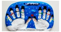 We just love Christmas and making keepsakes! Here is a super cute Snowman Keepsakes to make with your kids.