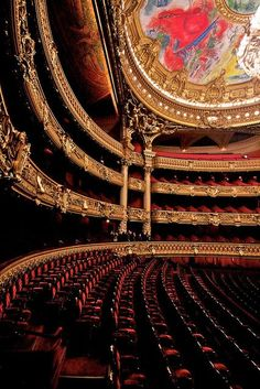 Le Palais Garnier in Paris. I love the Chagall ceiling. Discover and collect amazing bucket lists created by local experts