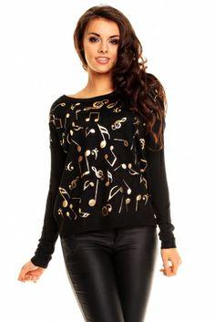 Sweterek 8229 NUTKI czarna