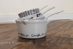 DIY sharpie measuring cups