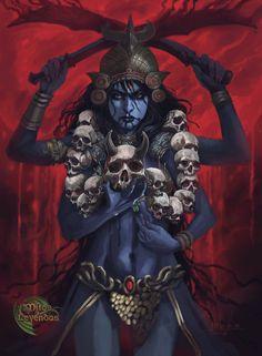 Saraswati Goddess, Kali Goddess, Shiva Shakti, Goddess Art, Hindu Tattoos, Arm Tattoos, Sleeve Tattoos, Baphomet, Mother Kali