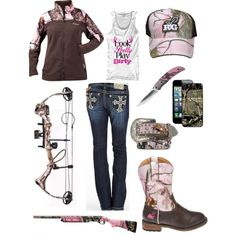 Authentic Huntress - Pink is not Traditional, but it sure beats that urban camo stuff.