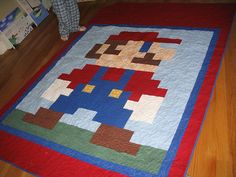 Really bizarre to see my quilt already pinned on Pinterest!  Very fun.