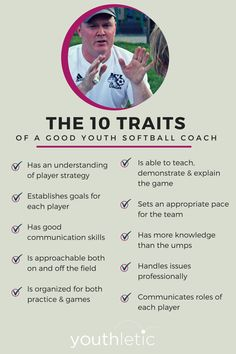 ten ways you can tell if your daughter has a good softball coach: https://www.youthletic.com/articles/the-10-traits-of-a-good-youth-softball-coach/?utm_source=pinterest&utm_medium=social&utm_campaign=organic_promotion