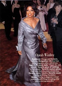 Stunning!  Say what you will, she has contributed to changing and bringing light to the world. Yes.
