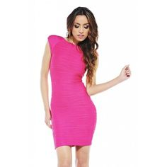Ax Paris - Rippled  Bodycon  Dress Lovely Dresses, Dresses For Work, Formal Dresses, Summer Fashion Outfits, Fashion Dresses, Yes To The Dress, Business Fashion, Dress Making, Pink Dress