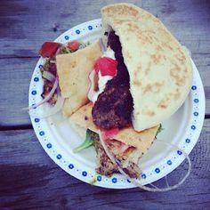 Chicken souvlaki and pork kebob from Kalofagas Greek Food, by @OrchardBloom | April 2012, #TUM
