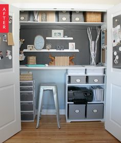 Before & After: An Extra Closet Gets a Crafty Makeover | Apartment Therapy
