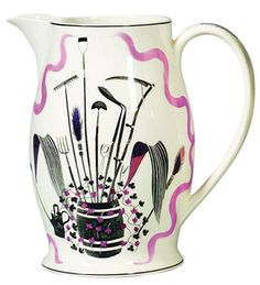 eric ravillious, print, pottery, ceramics, gardening tools, illustration, design, 1930s, drawing