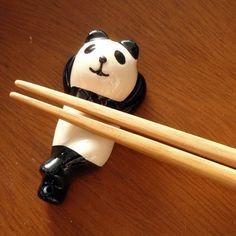 lounging panda chopstick holder
