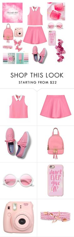 """""""Pink"""" by fashionmadness13 ❤ liked on Polyvore featuring RED Valentino, Keds, MICHAEL Michael Kors, ZeroUV, Casetify and Fujifilm"""