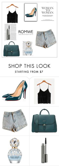 """""""Untitled #62"""" by amina-33 ❤ liked on Polyvore featuring Christian Louboutin, American Apparel, Burberry, Balmain, Marc Jacobs and MAC Cosmetics"""