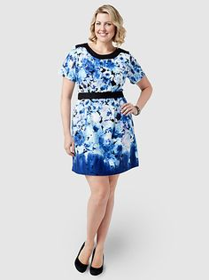 Ombre Floral Print Tunic by Simply Be
