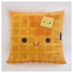 Deluxe Pillow  Yummy Waffle by mymimi on Etsy, $28.00