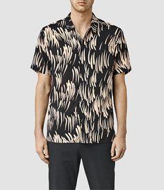 Men's Juneau Short Sleeve Shirt (BLACK/PINK) -