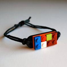 Etsy: Play Day Bracelet in Black--Build Your Own LEGO bracelet