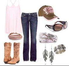 Love the earrings and the boots cute country outfits, country girl style, western outfits Cute Fashion, Look Fashion, Girl Fashion, Fashion Outfits, Womens Fashion, Fashion Beauty, Fashion Trends, Fashion Styles, Country Concert Fashion