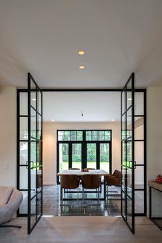 Contemporary design style you can't miss. Want to make a contemporary design trip but it's getting hard to find the destinations? Mid-century Interior, Home Interior Design, Interior Architecture, Steel Doors And Windows, Contemporary Home Decor, Contemporary Design, Mid Century House, Home Decor Inspiration, Home And Living