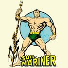 Sub-Mariner T-shirt retro superhero comic book 100% cotton graphic white tee