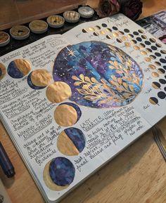 Bullet Journal Spread, Bullet Journal Ideas Pages, Bullet Journal Inspiration, Journal Aesthetic, Witch Aesthetic, Grimoire Book, Moon Magic, Book Of Shadows, Magick