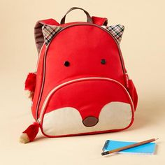 I love this backpack!! I don't think it is big enough to fit a notebook though. It even has matching lunchbox.