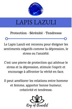 Lapis Lazuli Meaning Benefits Virtues and Properties in Lithotherapy Crystal Healing Stones, Stones And Crystals, Lapis Lazuli Meaning, Bracelet Lapis Lazuli, Les Chakras, Ayurveda Yoga, Baby Witch, Burn Out, Age Of Aquarius