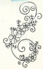 Tattoo design 6 by on DeviantArt - embroidery Floral Embroidery Patterns, Hand Embroidery Designs, Ribbon Embroidery, Flower Patterns, Embroidery Stitches, Machine Embroidery, Pattern Flower, Quilling Patterns, Motif Floral