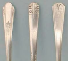 Art Deco silverware - possible tattoo? spoon and fork with art deco detail