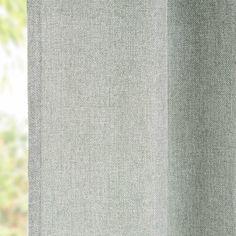 Cortina de ojales verde grisáceo 140x270 cm | Maisons du Monde