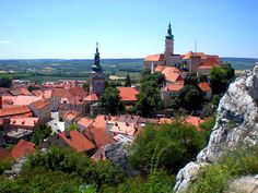 The beautiful red-roofed town of Mikulov, in the south central area of the Czech Republic.