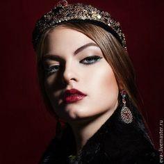 Купить Диадема -ободок Русская княжна - диадема, русский стиль, русский народный костюм