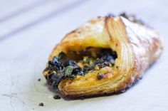 Green Garlic and Goat Cheese Puff Pastry from Baker David Bauer of Farm and Sparrow -Candler, NC #bread #pastry #artisan