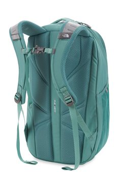 The North Face Womens Jester Backpack - Mid Grey Light Heather/Trellis Green North Face Women, The North Face, Back To School Supplies, Hiking Gear, North Face Backpack, School Backpacks, Laptop Sleeves, Bags, Shopping