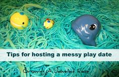 Would your little ones enjoy a messy play date? Lots of tips for managing the cost, setting up, and organizing the messy fun!