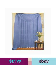 Curtains Drapes Valances Set Of 2 Sheer Sheers Voile 90 Long
