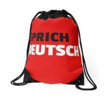 Drawstring Backpack, Designer, Chiffon Tops, German, Classic T Shirts, Language, Backpacks, Bags, Stuff To Buy