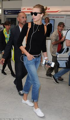 Karlie Kloss and Doutzen Kroes jet in from US for Cannes film festival #dailymail