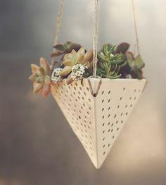 Swiss Ceramic Hanging Planter by Latch Key on Scoutmob