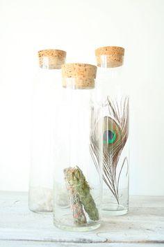 Glass Jars with Cork Lids por EstherandHarper en Etsy