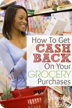 Not only can you get cash back for your online purchases, but you can get CASH BACK at the grocery store too!!  Follow the directions to get started!