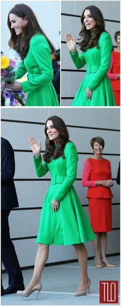 Catherine, Duchess of Cambridge in Catherine Walker in Canberra, Australia
