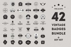 Check out Vintage Badges Bundle - 50% off by Unicorg on Creative Market