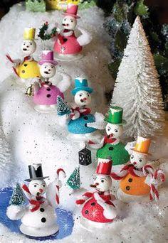 radko shiny brite snowmen