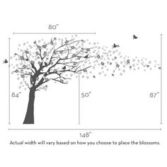 Cherry Blossom Tree Decal - Baby Nursery Elegant Style
