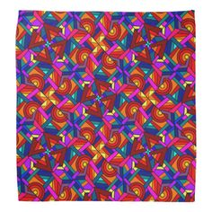 KALEIDOSCOPE EFFECT  (pattern design) ~ Bandana  Original paintings can be found for sale through my Amazon store at: http://www.amazon.com/shops/artmatrix or you can make direct arrangements for them through me. JMO Zazzle designs: http://www.zazzle.com/thewhippingpost?rf=238063263784323237 To help an artist, you can donate here: http://www.gofundme.com/6am6lg
