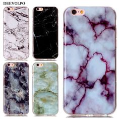 DEEVOLPO Phone Bag Case For Apple iPhone 8 7 Plus 6+ 7+ 8+ 4S 5 5S SE 5C 6 6S ipod touch 6 Soft TPU Marble Stone Cover Skin DP02  Price: 1.57 USD