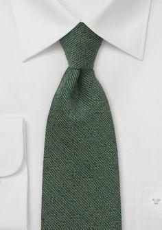 Barleycorn Wool Tie in Autumn Green